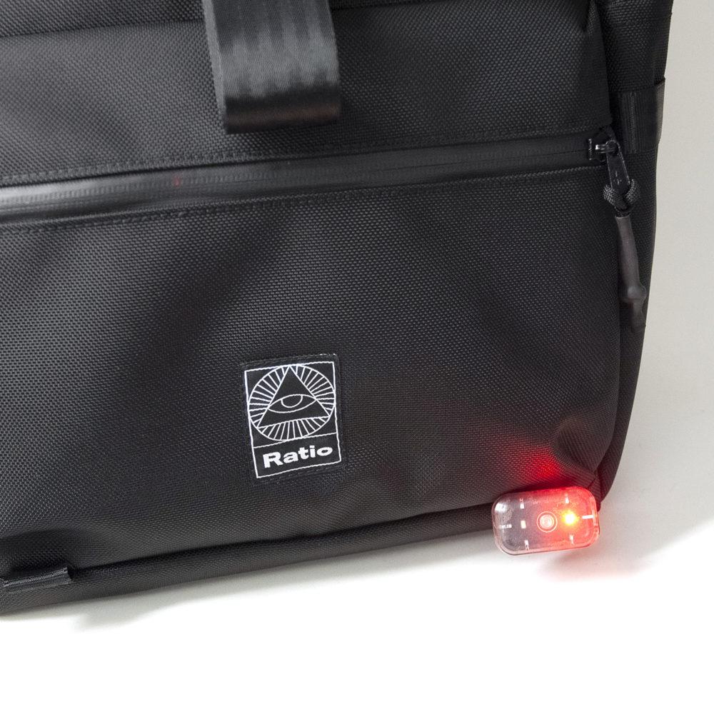 sac à dos vélo porte lumière
